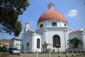 Gereja Blenduk Lansdmark Kota Lama Semarang