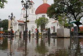 Kondisi Terkini Kawasan Kota Lama Semarang Paska Banjir 2021